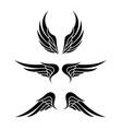 wing logo emblem in simple style vector image vector image