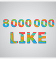 a number of likes made by colorful layered vector image