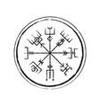 abstract runic symbols circle vector image vector image