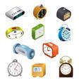 alarm clock modern clockface clocked in vector image