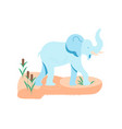 alone african elephant at the watering hole vector image vector image