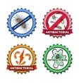 Antibacterial badges set vector image