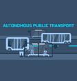 autonomous public transport vector image vector image