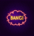 bang neon label vector image