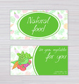 banners with vegetables background and labels on vector image vector image