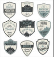 bicycle retro vintage badge collection vector image vector image