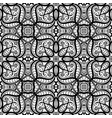 black and white swirly lace pattern vector image