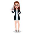 business woman cartoon character beautiful lady vector image vector image