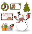 Christmas decoration elements set vector image