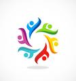 circle people diversity multicolor logo vector image vector image