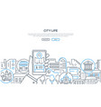 city life - modern line design style web banner vector image vector image
