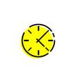 clock icon clock icon in trendy flat style clock vector image vector image