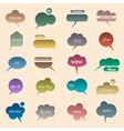 Collection of various bubbles for speech vector image vector image