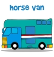 Collection stock of horse van vector image vector image
