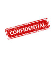 confidential sign sticker stamp texture vector image vector image
