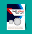 cover design template vector image vector image