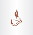 cup coffee stylized icon vector image