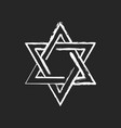 david star chalk white icon on black background vector image