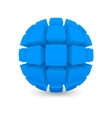 Divided blue sphere vector image vector image