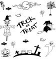 Doodle of halloween art vector image vector image