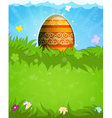 Easter egg with orange pattern vector image vector image