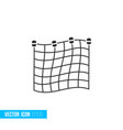 fishing net icon in silhouette flat style isolated vector image vector image