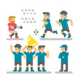 flat design football player set vector image