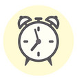 flat outline alarm clock icon time symbol vector image vector image