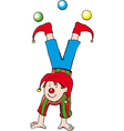 funny clown vector image vector image