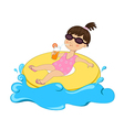 Girl on float vector image vector image