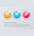 glass banner realistic vector image