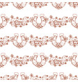 good luck banner and clover seamless pattern vector image