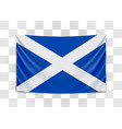 hanging flag scotland scotland national flag vector image vector image