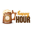 happy hour poster template vector image vector image