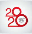 happy new year 2020 logo text design merry vector image vector image