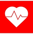 Heartbeat sign vector image vector image
