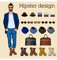 Hipster guy elements vector image vector image