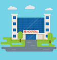 hospital building in flat style medical concept vector image