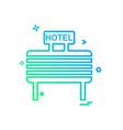 hotel icon design vector image