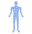 internet man figure vector image