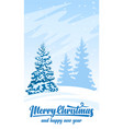 invitation card merry christmas vector image vector image