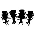 kids in costumes for saint patricks day vector image vector image