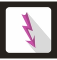 Lightning arrow icon flat style vector image