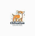 logo chihuahua simple mascot style vector image