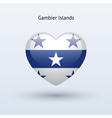 Love Gambier Islands symbol Heart flag icon vector image vector image