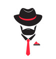 man in a hat and tie gentleman in mafia style vector image vector image