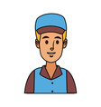 man in uniform of delivery worker character vector image vector image