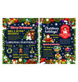 merry christmas winter holidays greeting poster vector image vector image