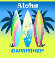 modern colorful surfboard set vector image vector image