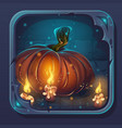 monster battle gui icon - pumpkin and candle vector image vector image